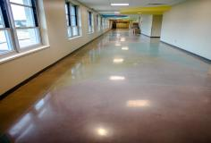 Polished Concrete Floor Decorates Newly Built Performing Arts School