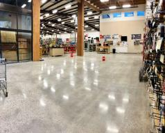 Hardware and Lumber Store Gets a New Polished Concrete Floor in Just 14 Days