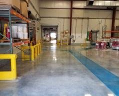 An Industrial Manufacturing Facility Floor is Repaired and Polished