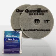 QuestMark maintenance pads and packet of cleaner
