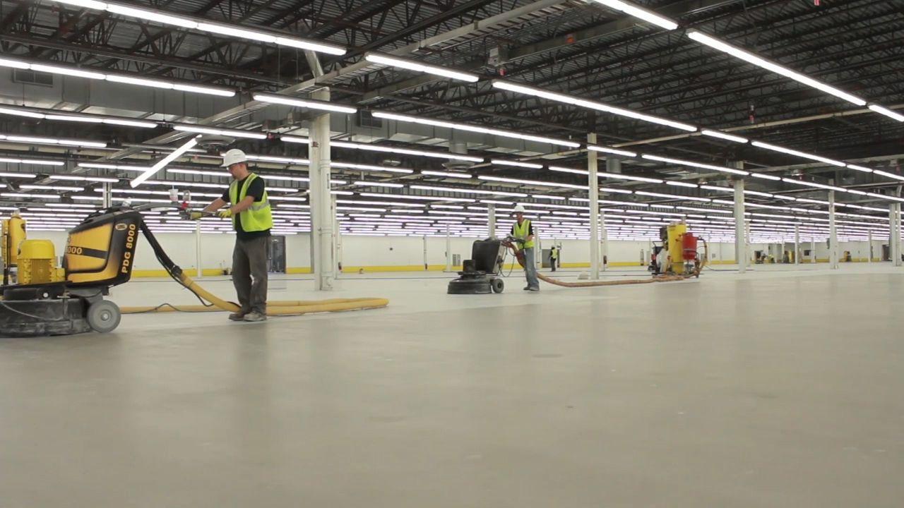 QuestMark's commercial floor installers at work